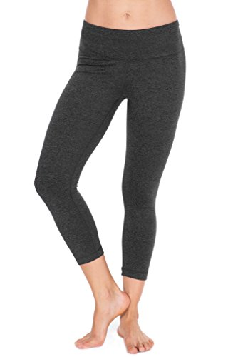 90 Degree By Reflex Power Flex Yoga Capri – Cationic Heather Activewear Pants