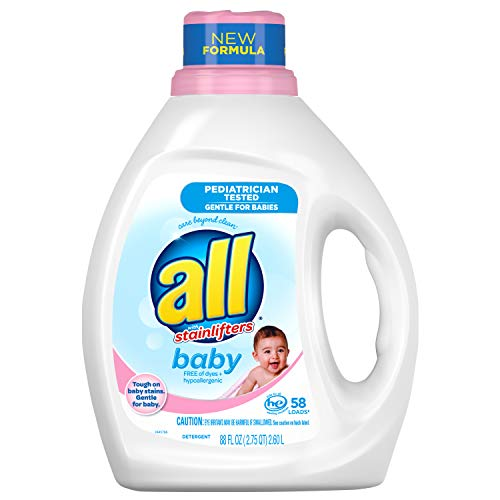 All Baby Liquid Laundry Detergent, Gentle for Baby, 58 Loads, 88 Fluid Ounce