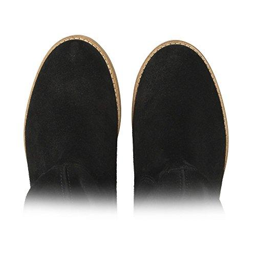 color 42 negro talla Botas 210 Mujer ZWEIGUTSmuck plisadas I1qXg