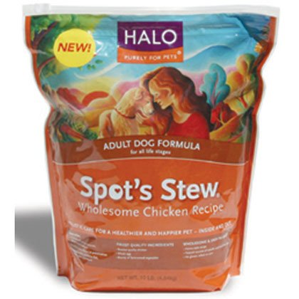 Halo Purely For Pets Spot's Stew For Dogs Adult Dog Formula Wholesome Chicken -- 15 lbs