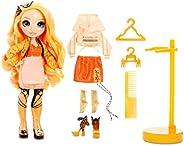 Rainbow Surprise Rainbow High Poppy Rowan – Orange Fashion Doll with 2 Outfits