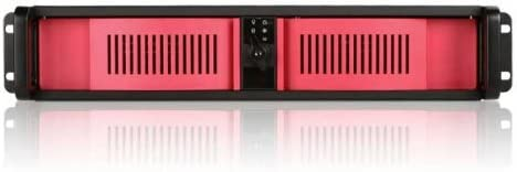 146375A Red iStarUSA D-200-RED 2U Compact Stylish Rackmount Chassis Power Supply Not Included