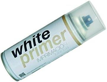 Spray Imprimación Metal, Madera, Plasticos 400m (Negro, Blanco, Gris) (Blanco)