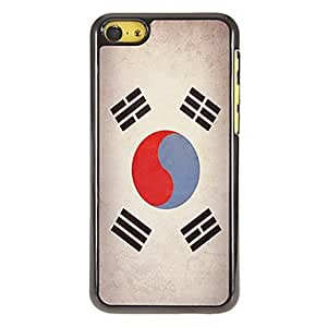 DUR Korean Flag Pattern PC Hard Case with 3 Packed HD Screen Protectors for iPhone 5C