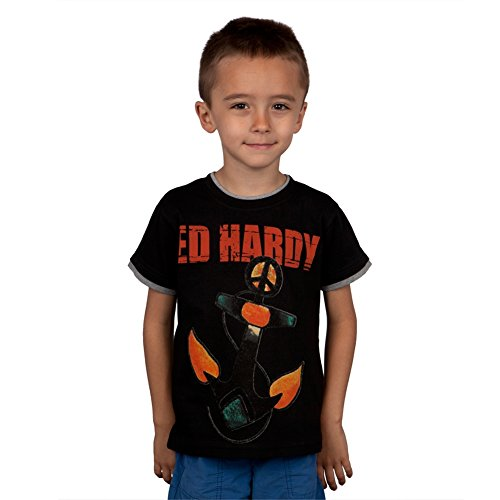 Ed Hardy Anchor (Ed Hardy - Peace Anchor Juvy T-Shirt - Juvy 6/7)