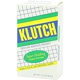 Klutch Denture Adhesive Powder Super Hold 1.75 oz (Pack of 3)