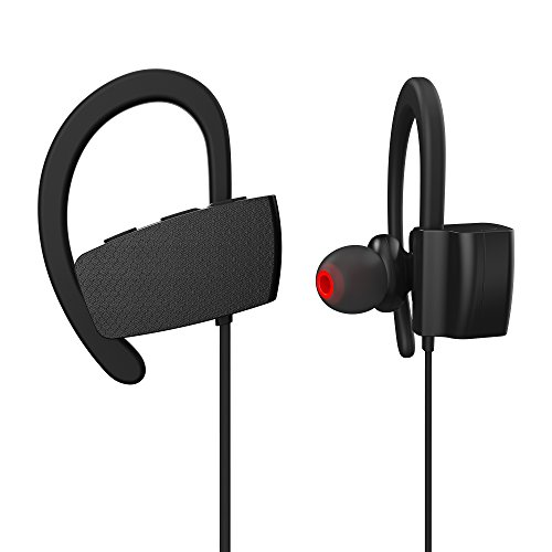 Bluetooth Headphones, Wiki VALLEY Wireless Sports Earphones Mic IPX7 Waterproof HD Stereo Sweatproof in Ear Earbuds for Gym Running Workout 8 Hour Battery Noise Cancelling Headsets