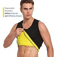 Hot Sweat Vest Neoprene Sauna Vest For Men Weight Loss Tummy Fat Burner Slimming Shapewear Hot Thermo Body Shaper Sweat Tank Top Black No Zip