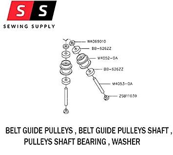 belt guide pulleys set bb 626zz wa069010 m4052 0a m4053 0a rh amazon in