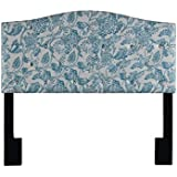 Pulaski DS-D019-250-435 Camelback Tufted Upholstered Headboard, Full/Queen, Patterned Blue