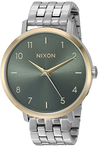 Nixon Women's Arrow Japanese-Quartz Watch with Stainless-Steel Strap, Gold, 17.5 (Model: A10902877