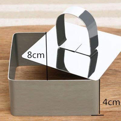 1 piece Stainless Steel Square Mousse Cake Ring Mold Round Metal Baking ring Mould 3D Cheese Heart Forms For Cake Cookies Baking Dish