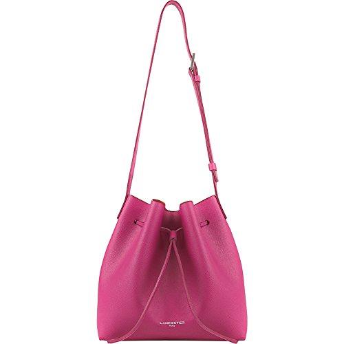 24 cm fuchsia pink Lancaster Pur Saffiano Borsa tote pelle xCffgFwqZ
