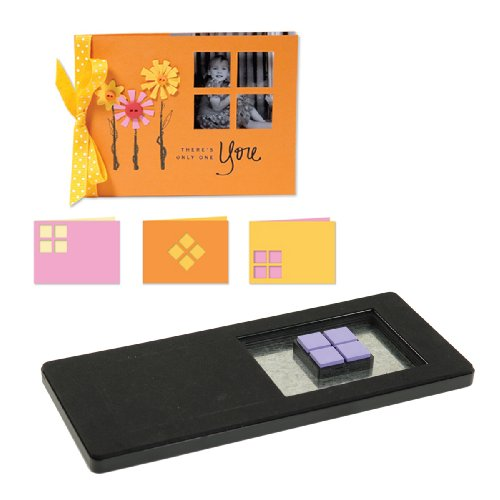 Sizzix 1 Die - Sizzix Movers & Shapers Dies Kit #1-Card, Horizontal A2, Window Panes 4