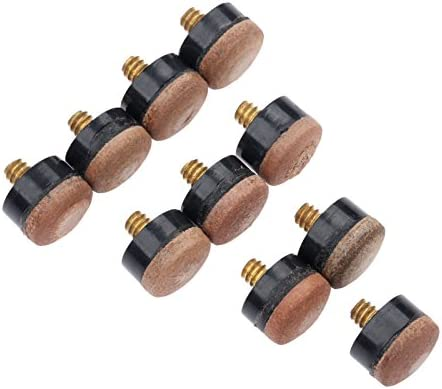 MUXSAM 10pcs virolas de Partes de Repuesto de Billar Taco de Billar Palo + para atornillar, Taco de Billar Consejos, 12 mm: Amazon.es: Deportes y aire libre