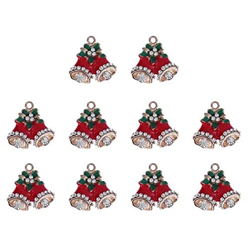 Green-Valley-113-10Pcs Mini Christmas Decoration Pendant Ornaments DIY Craft Metal Charms For Clothes Jewelry Christmas Decoration For Home