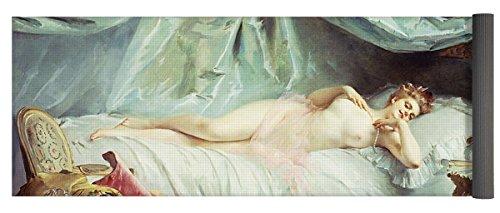 """Pixels Yoga Mat w/ Bag """"Reclining Nude In An Elegant Interior"""""""