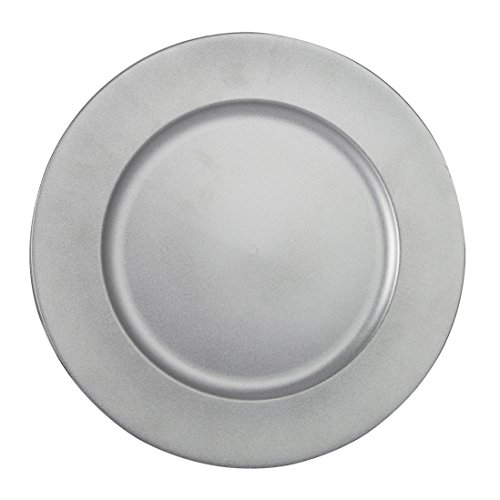 FANTASTIC ) Round 13 Inch Plastic Charger Plates with Powder Coating Finish (1 Matte Plain Silver)  sc 1 st  Plate Dish. & Plastic Charger Plates $1. Benzara BM174314 Reef Pattern Round ...