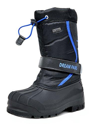 DREAM PAIRS Big Kid KAMICK Black Royal Mid Calf Waterproof Winter Snow Boots Size 4 M US Big Kid