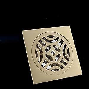 Jingzou drenaje antigua planta de cobre desodorante desagüe en el suelo del cuarto de baño lavadora