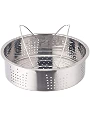YARNOW 1 Set Stainless Steel Steamer Pot with Wire Separator Steamer Box Stackable Steamer Insert Pans Pot In Pot for Dumplings Fish Vegetables Chicken Kitchen