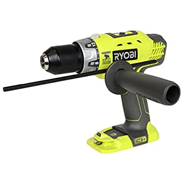 18-volts Ryobi One+ 18v Lithium-ion (P214) Cordless Hammer Drill/driver (Bare Tool-battery and Charger Not Included)