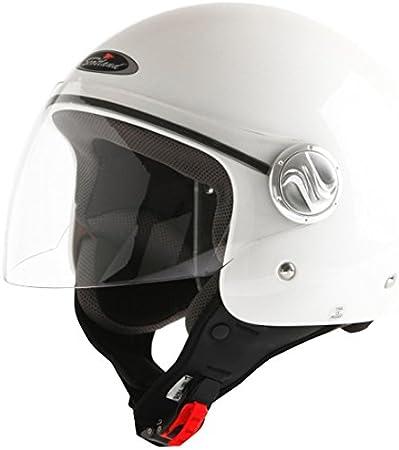 Unisex 59-60 Noir Mat L Scotland Casque de Moto//Scooter avec Longue Visiere