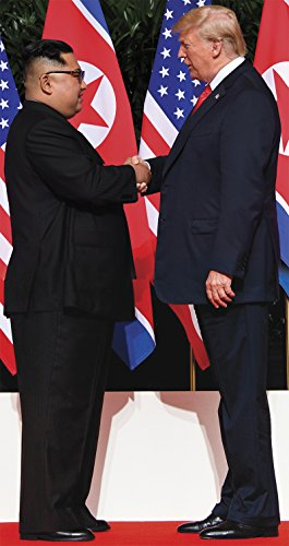 Aahs Engraving President Donald Trump and Kim Jong-un US-North Korea Summit Handshake Cardboard Stand Up, 6 feet -