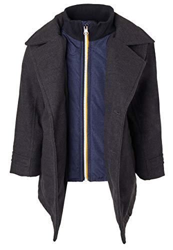 25cfce1c9 Sportoli Boy Classic Wool Look Lined Winter Vestee Dress Pea Coat ...
