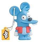 Tribe FD003408 The Simpsons Springfield Pendrive Figure 8 GB Funny USB Flash Drive 2.0 Memory Stick Data Storage, Keyholder Key Ring, Itchy, Blue