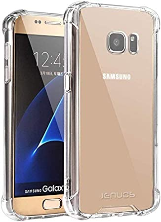 Jenuos Funda Samsung S7, Transparente Suave Silicona Protector TPU ...
