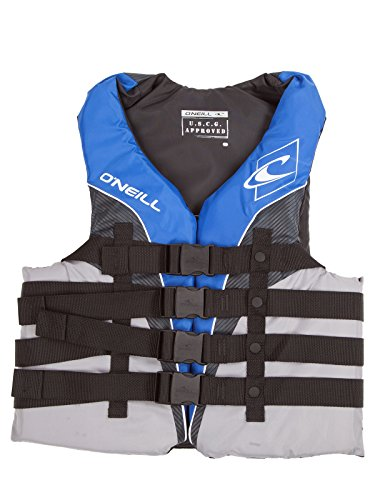 Uscg Life Jackets - O'Neill Mens Superlite USCG Life Vest 6XL Pacific/Smoke/Black (4723)