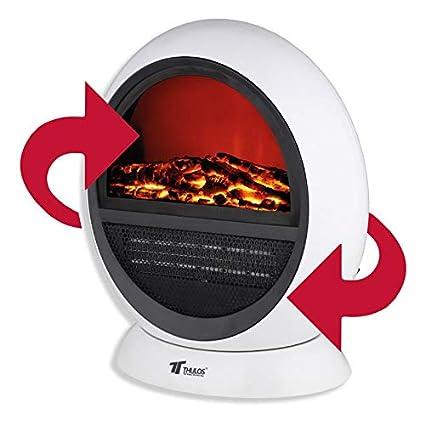 Calefactor portátil tipo Chimenea eléctrica. THULOS TH-CY01
