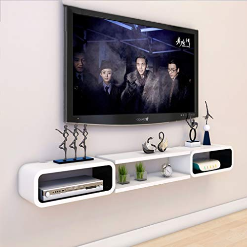 Floating Shelf Floating Shelf TV Wall Mount Shelf for Cable Box DVD Player Audio Gaming Systems Streaming Devices DVR VCR Cable Box (Color : B)