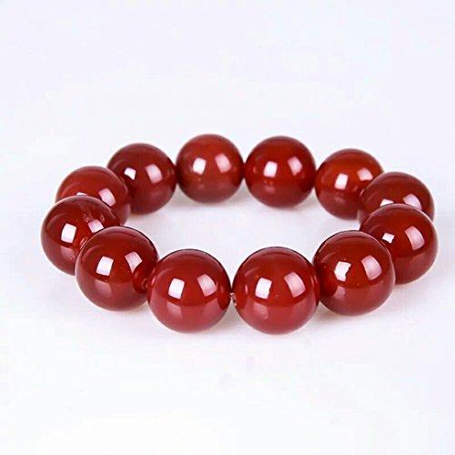 Generic 18 red agate bead bracelet full Brazilian agate beads bracelet men red agate women girls lady to man boy models hand