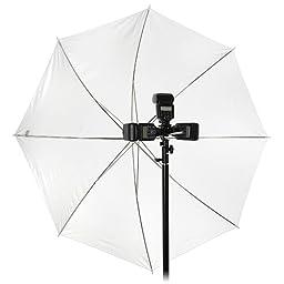 Fotodiox Pro, Radio Triggered Tri Flash Umbrella Bracket with Light Stand Mount Kit, (Bracket + Radio Flash Trigger)