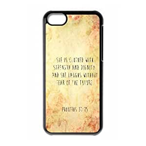 Strength And Dignity iPhone 5c Cell Phone Case Black Phone cover E1345169
