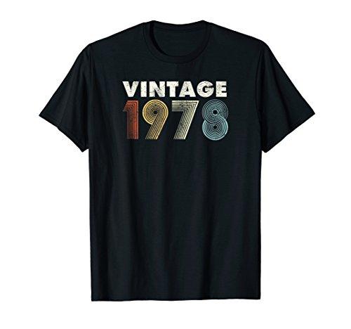 (Vintage 1978 70s Retro T-Shirt 40th Birthday Gift Distressed)