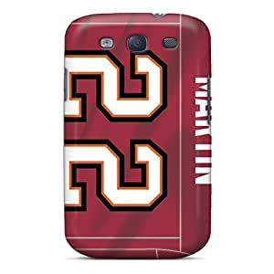 Scratch Resistant Hard Cell-phone Cases For Samsung Galaxy S3 With Customized Realistic Tampa Bay Buccaneers Skin CharlesPoirier