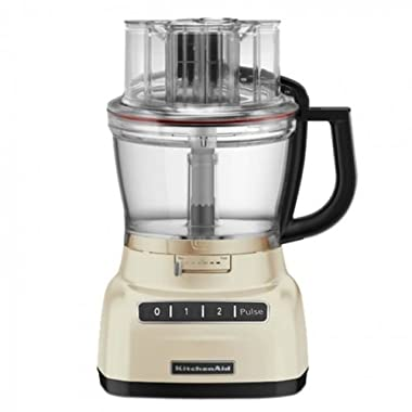 KitchenAid RKFP0930AC 9-Cup Food Processor with Exact Slice System (CERTIFIED REFURBISHED) Almond Cream