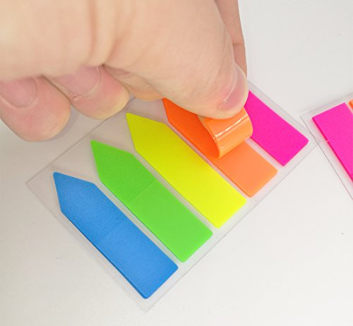 Antner 12 Sets Neon Page Markers Colored Index Tabs Flags Sticky Notes for Page Marker, 1200 Pieces Photo #2