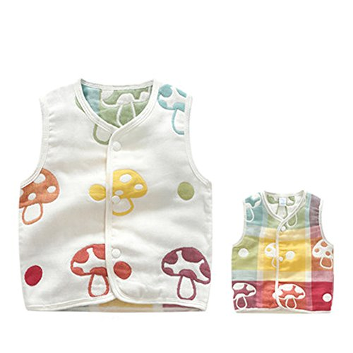 Luyusbaby Infant Baby Outwear Vests Colorful Guaze Reversible Waistcoat 6-9 Months by Luyusbaby (Image #2)