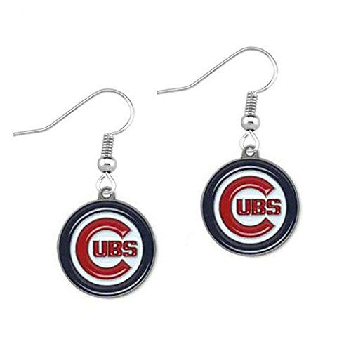 Chicago , Cubs ( Baseball Team) Women's Round Dangle Earrings (one side)