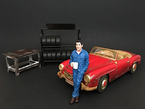 American Diorama 77495 Mechanic Larry Taking Break, used for sale  Delivered anywhere in USA