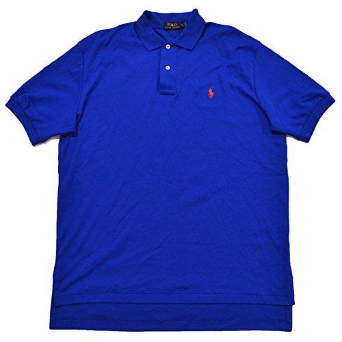 Polo Ralph Lauren Mens Classic Fit Interlock Polo Shirt (L, Pacific Royal)