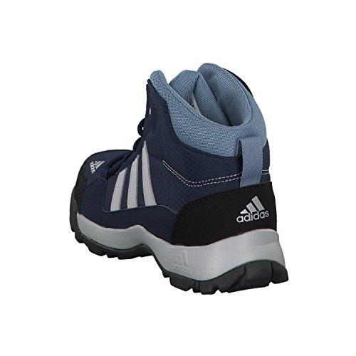 adidas Unisex-Kinder Hyperhiker K Trekking-& Wanderstiefel Blau (Collegiate Navy/grey Two F17/raw Grey S18)