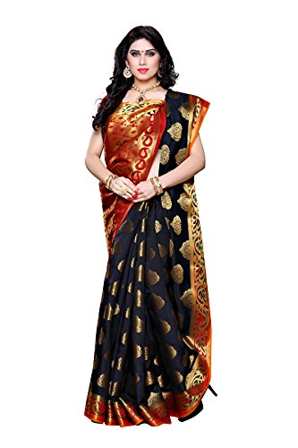 Mimosa-Artificial-Silk-Saree-Kanjivaram-Style-with-Blouse-ColorBlack