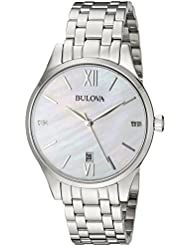 Bulova 96P161 16mm Stainless Steel Silver Watch Bracelet