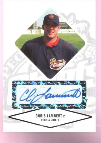 CHRIS LAMBERT 2004 JUST MINORS ROOKIE CARD RC AUTOGRAPH AUTO CARD MINT CUBS $12