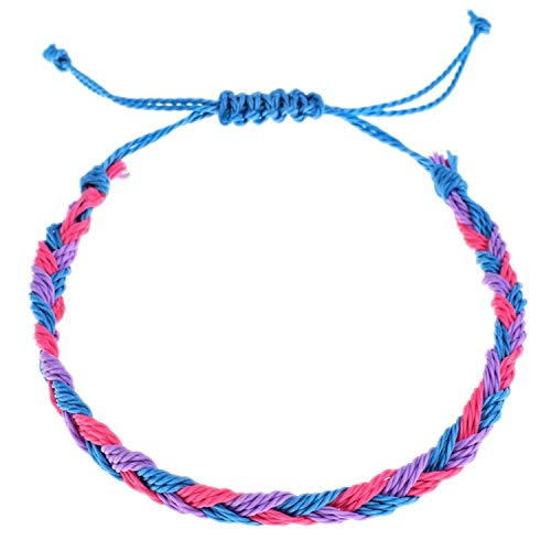 TILLY ANDERSON Fashion Bohemian Handmade Braid Bracelet Adjustable Rope Chain Bracelets Anklet for Women Holiday Jewelry,A